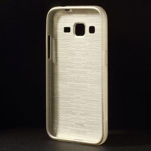 Brúsený gélový kryt pre Samsung Galaxy Core Prime - zlatý - 2