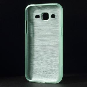 Brúsený gélový kryt pre Samsung Galaxy Core Prime - cyan - 2