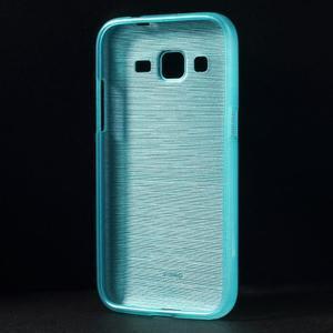 Brúsený gélový kryt pre Samsung Galaxy Core Prime - tyrkysový - 2