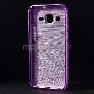 Broušený gelový kryt na Samsung Galaxy Core Prime - fialový - 2