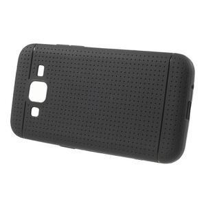 Černý tečkovaný kryt na Samsung Galaxy Core Prime - 2