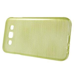 Broušené gélový kryt pre Samsung Galaxy E5 - okrový - 2