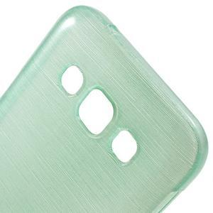 Broušené gélový kryt pre Samsung Galaxy E5 - cyan - 2