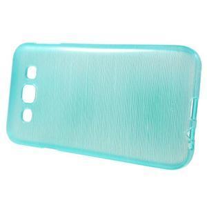 Broušené gélový kryt na Samsung Galaxy E5 - tyrkysový - 2