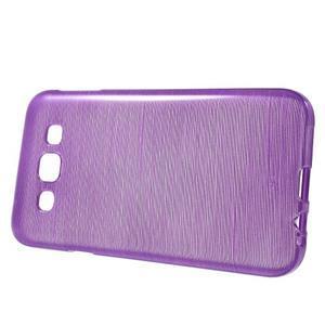 Broušené gélový kryt na Samsung Galaxy E5 - fialový - 2