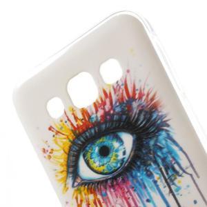 Gélový obal pre mobil Samsung Galaxy E5 - farebné oko - 2