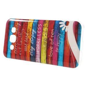 Gélový obal pre mobil Samsung Galaxy E5 - farebné desky - 2