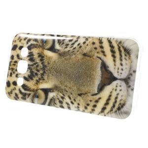 Gélový obal na mobil Samsung Galaxy E5 - leopard - 2