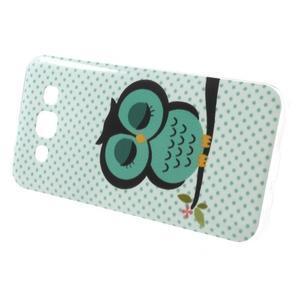 Gélový obal pre mobil Samsung Galaxy E5 - sova - 2