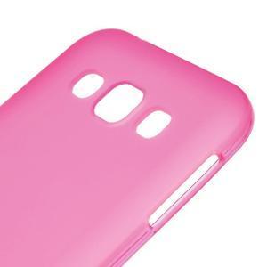 Matný gélový obal na Samsung Galaxy E5 - rose - 2