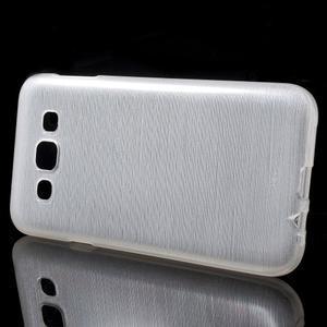 Broušené gélový kryt pre Samsung Galaxy E5 - biely - 2