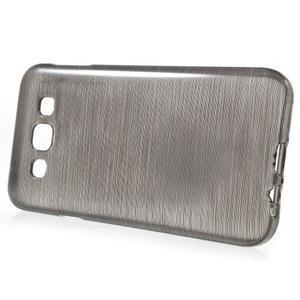 Broušené gélový kryt pre Samsung Galaxy E5 - šedý - 2