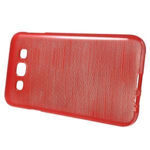 Broušené gélový kryt na Samsung Galaxy E5 - červený - 2
