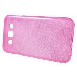 Broušené gélový kryt pre Samsung Galaxy E5 - rose - 2