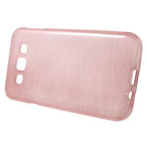Broušené gélový kryt pre Samsung Galaxy E5 - ružový - 2