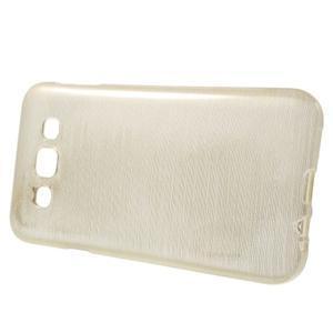 Broušené gélový kryt na Samsung Galaxy E5 - champagne - 2