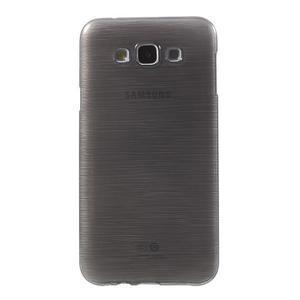 Broušený gélový obal pre Samsung Galaxy E7 - šedý - 2