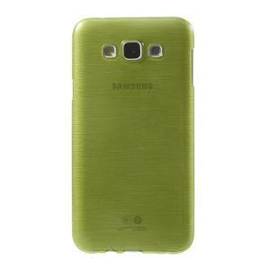 Broušený gélový obal pre Samsung Galaxy E7 - zelený - 2