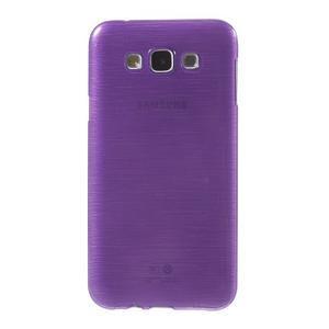 Brúsený gélový obal pre Samsung Galaxy E7 - fialový - 2