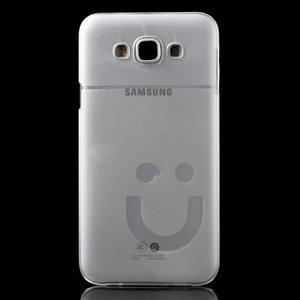 Plastový kryt na mobil Samsung Galaxy E7 - transparentný - 2