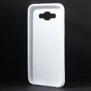 S-line gélový obal na Samsung Galaxy E7 - biely - 2