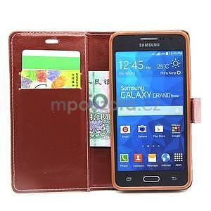 hnedé puzdro na Samsung Galaxy Grand Prime - 2