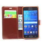 hnedé puzdro na Samsung Galaxy Grand Prime - 2/6