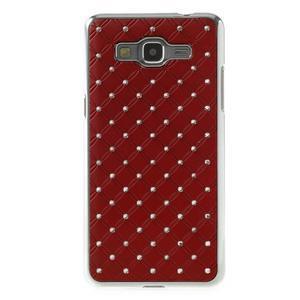 Červený drahokamový kryt pre Samsung Grand Prime - 2