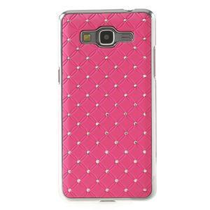 Ružový drahokamový kryt pre Samsung Grand Prime - 2