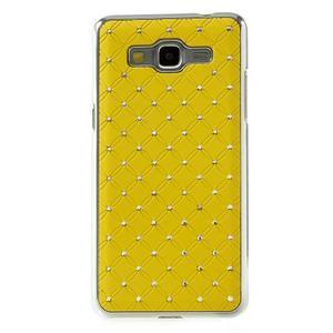 Žltý drahokamový kryt pre Samsung Grand Prime - 2