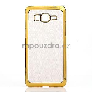 Luxusní kryt se zlatým lemem na Samsung Grand Prime - biely - 2