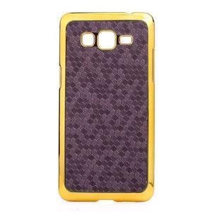 Luxusný kryt se zlatým lemem pre Samsung Grand Prime - fialový - 2