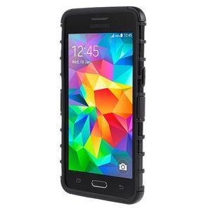 Vysoce odolný kryt se stojánkem na Samsung Galaxy Grand Prime - čierny - 2