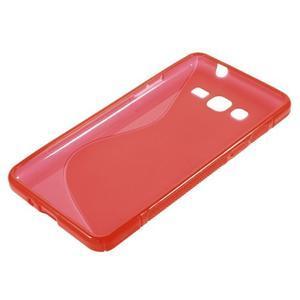 S-line gélový obal pre Samsung Galaxy Grand Prime - červený - 2