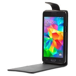 Čierné flipové puzdro pre Samsung Galaxy Grand Prime - 2