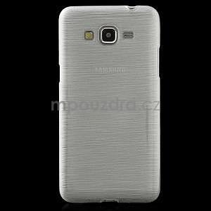 Broušený gélový obal pre Samsung Galaxy Grand Prime -  biely - 2