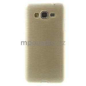 Broušený gélový obal pre Samsung Galaxy Grand Prime - zlatý - 2