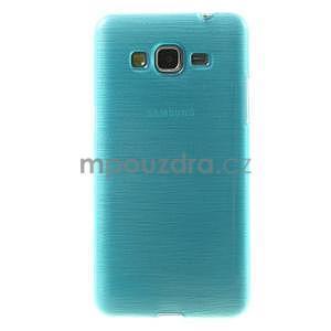 Brúsený gélový obal pre Samsung Galaxy Grand Prime - tyrkysový - 2