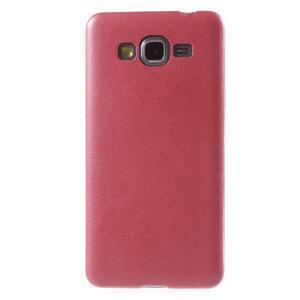 Ultratenký kožený kryt pre Samsung Grand Prime - červený - 2