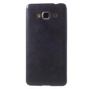 Ultratenký kožený kryt na Samsung Grand Prime - tmavě modrý - 2