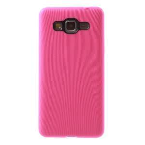 Tenký pogumovaný obal pre Samsung Galaxy Grand Prime - rose - 2