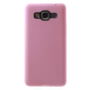 Tenký pogumovaný obal pre Samsung Galaxy Grand Prime - ružový - 2