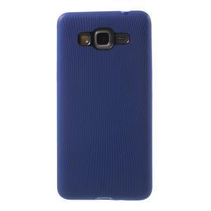 Tenký pogumovaný obal pre Samsung Galaxy Grand Prime - tmavo modrý - 2