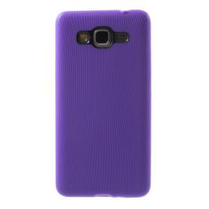 Tenký pogumovaný obal pre Samsung Galaxy Grand Prime - fialový - 2