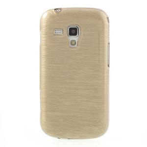 Broušený gélový kryt na Samsung Galaxy S Duos - zlatý - 2