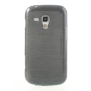 Broušený gélový kryt na Samsung Galaxy S Duos - šedý - 2