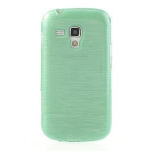 Broušený gélový kryt na Samsung Galaxy S Duos - zelený - 2