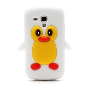 Silikonový obal tučňák na Samsung Galaxy S Duos - biely - 2