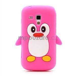 Silikonový obal tučniak pre Samsung Galaxy S Duos - rose - 2