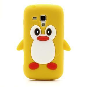 Silikonový obal tučniak pre Samsung Galaxy S Duos - žltý - 2